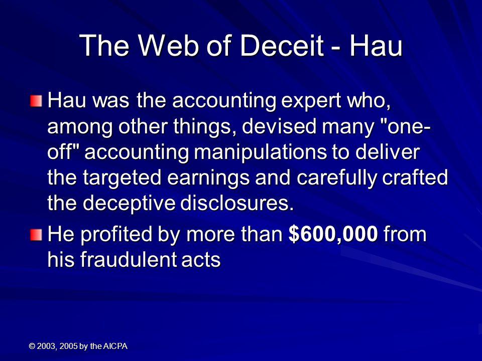 The Web of Deceit - Hau