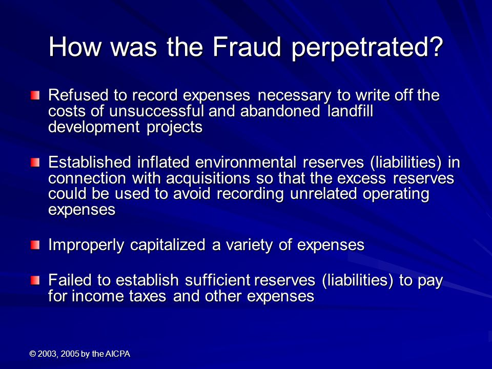 How was the Fraud perpetrated