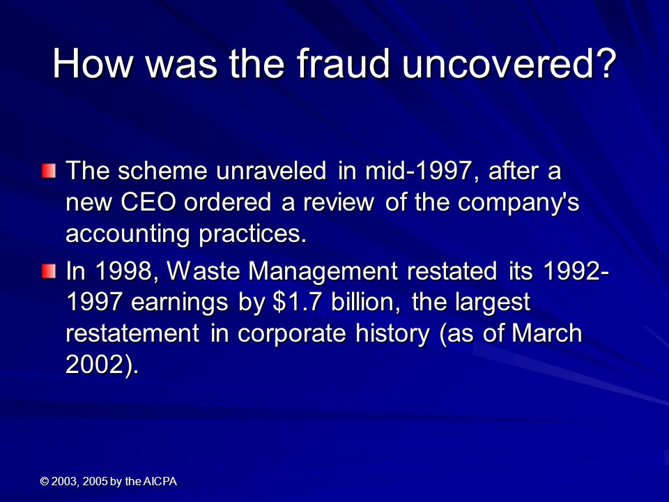 How was the fraud uncovered