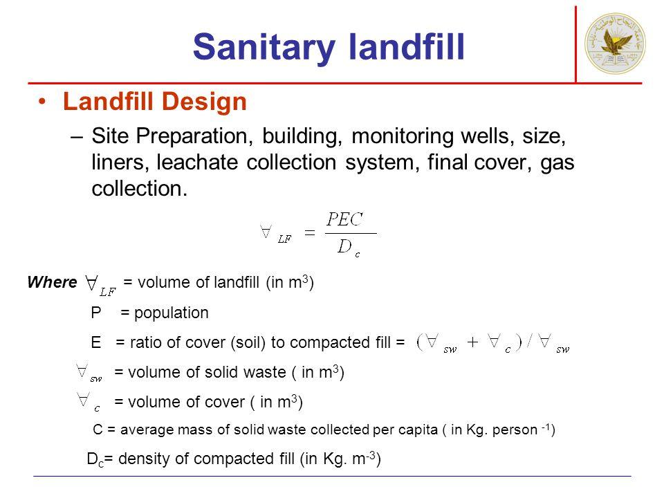 Sanitary landfill Landfill Design