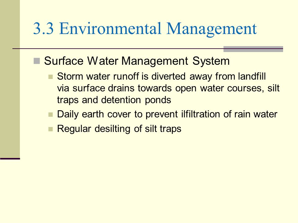 3.3 Environmental Management