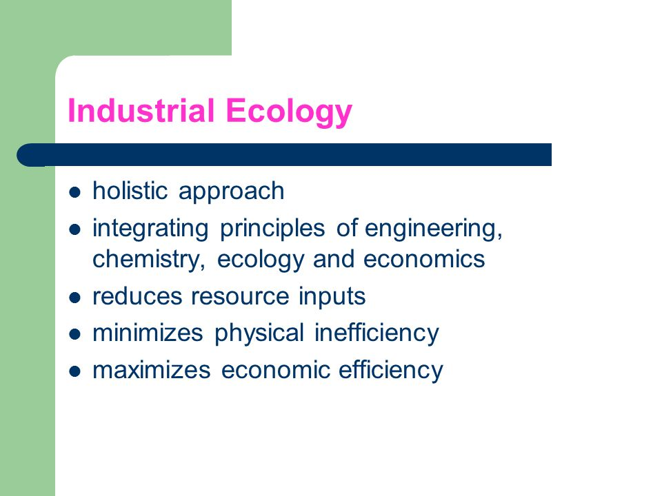 Industrial Ecology holistic approach