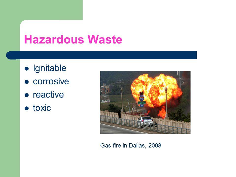 Hazardous Waste Ignitable corrosive reactive toxic