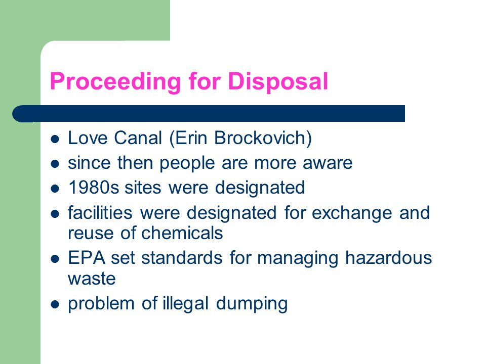 Proceeding for Disposal