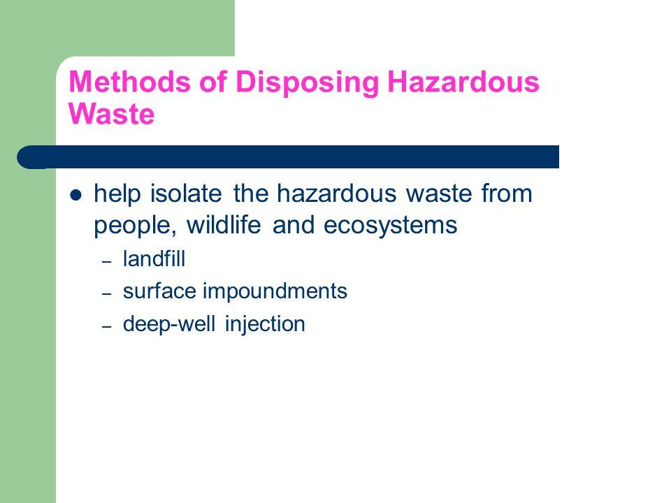 Methods of Disposing Hazardous Waste