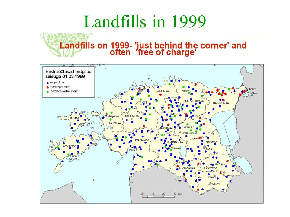 Landfills in 1999