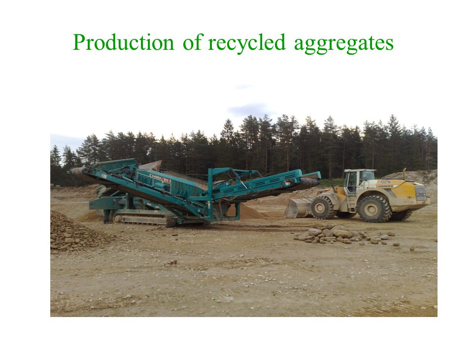 Production of recycled aggregates