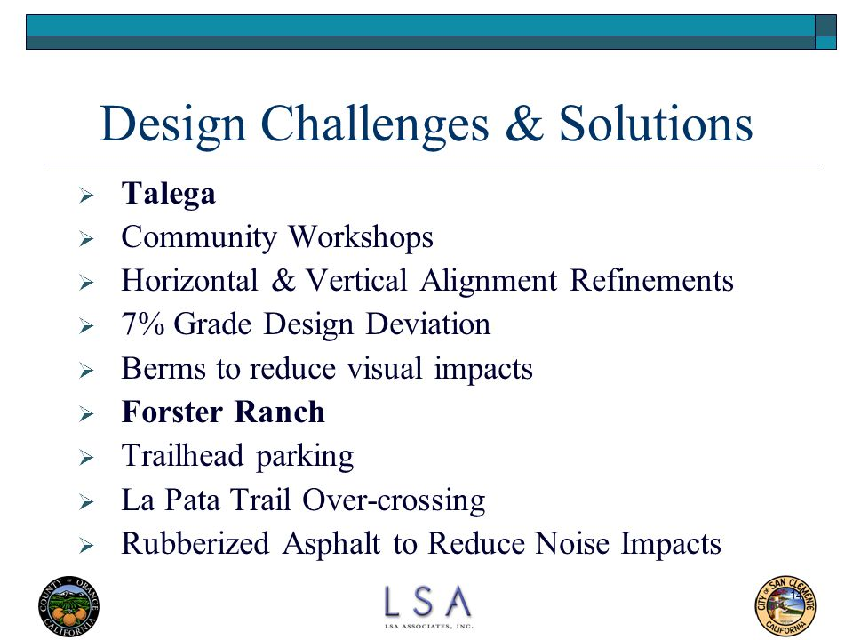 Design Challenges & Solutions