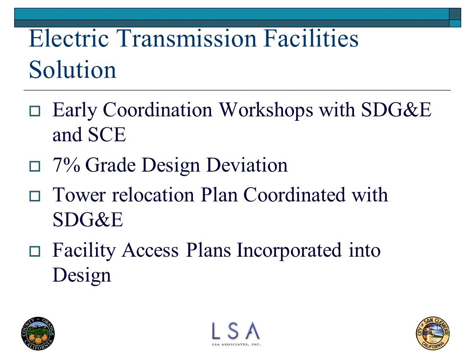 Electric Transmission Facilities Solution