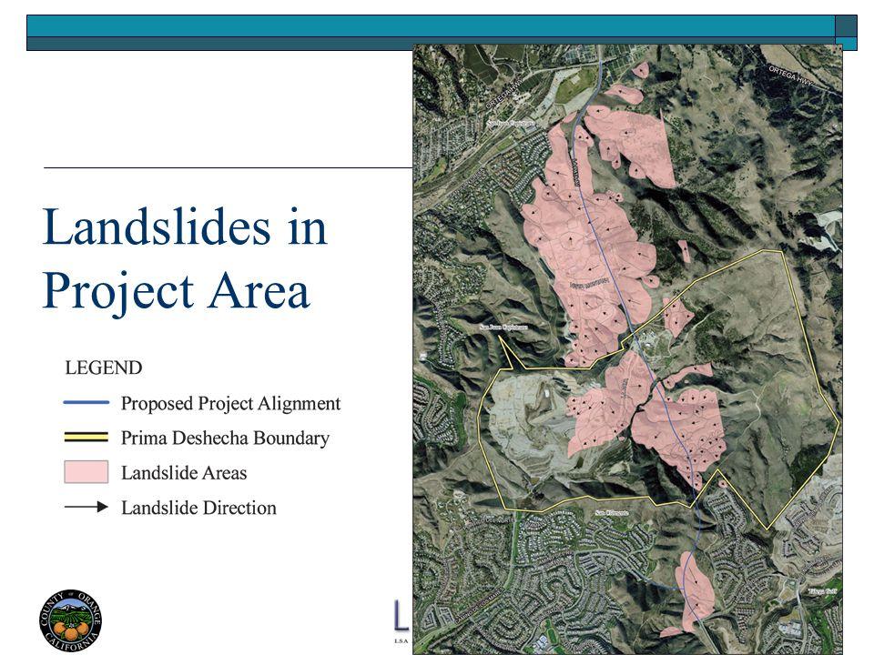 Landslides in Project Area
