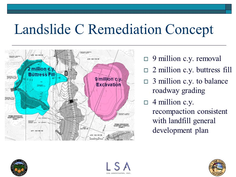 Landslide C Remediation Concept