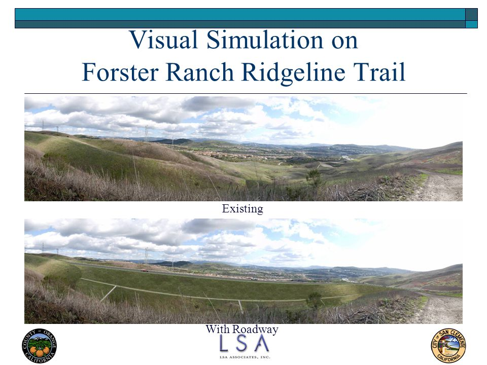 Visual Simulation on Forster Ranch Ridgeline Trail