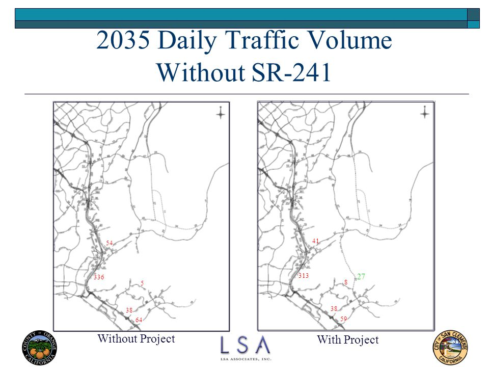 2035 Daily Traffic Volume Without SR-241