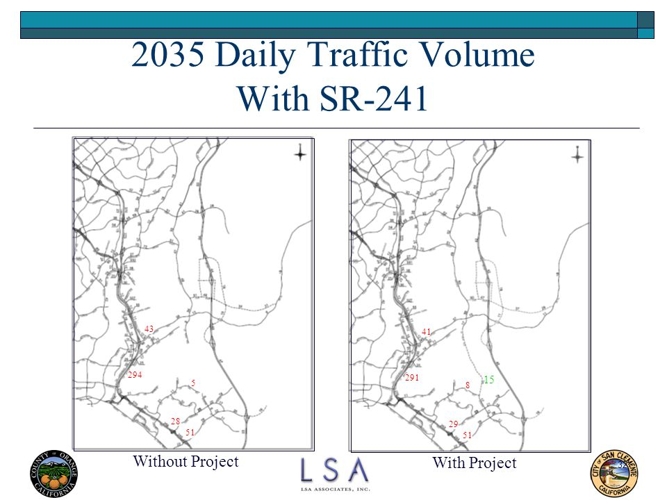 2035 Daily Traffic Volume With SR-241