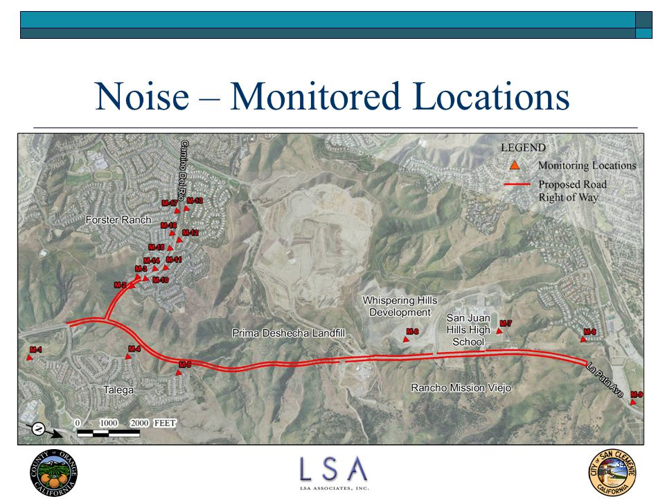 Noise – Monitored Locations