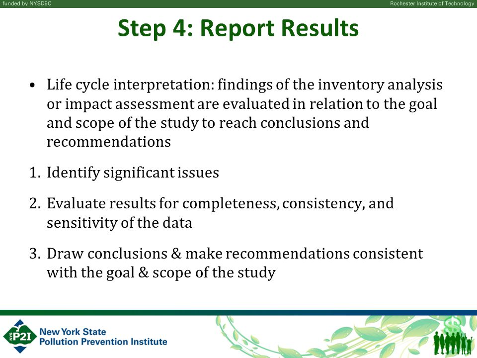 Step 4: Report Results