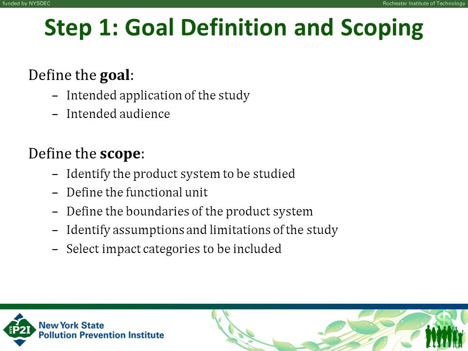 Step 1: Goal Definition and Scoping