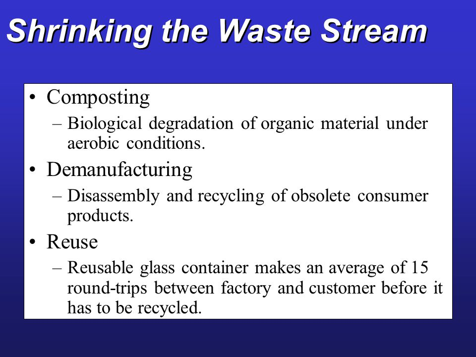 Shrinking the Waste Stream
