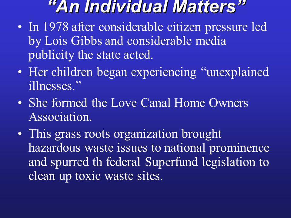 An Individual Matters