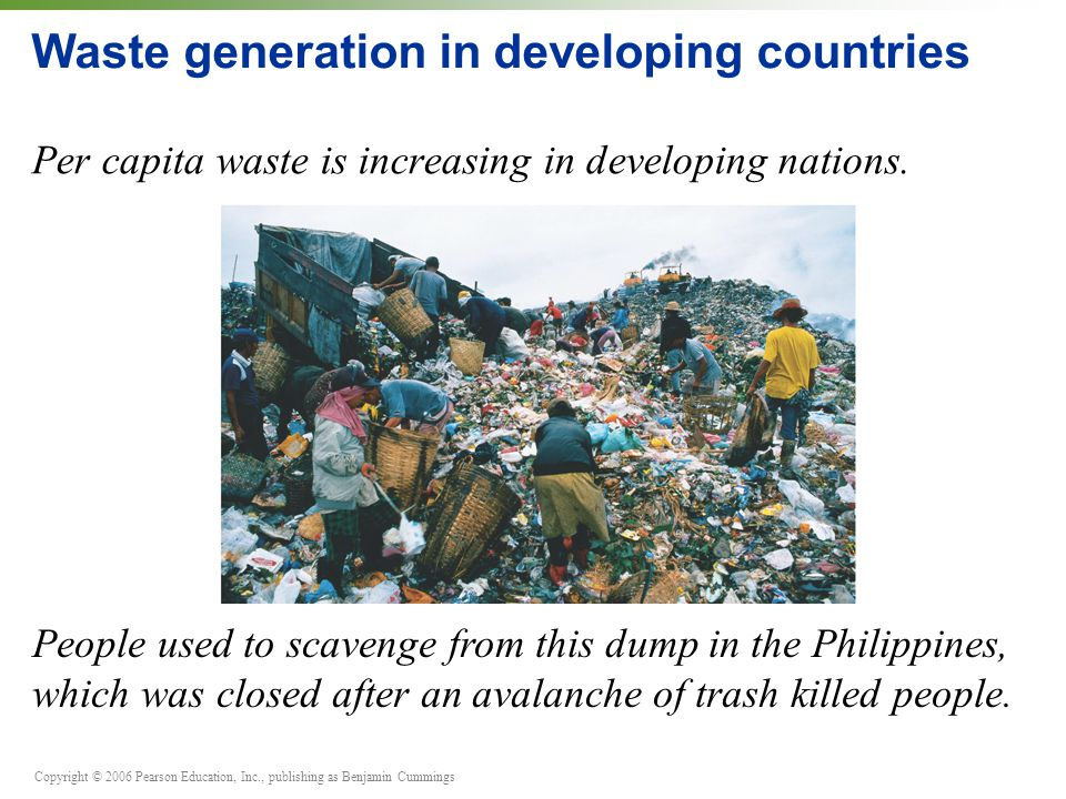 Waste generation in developing countries