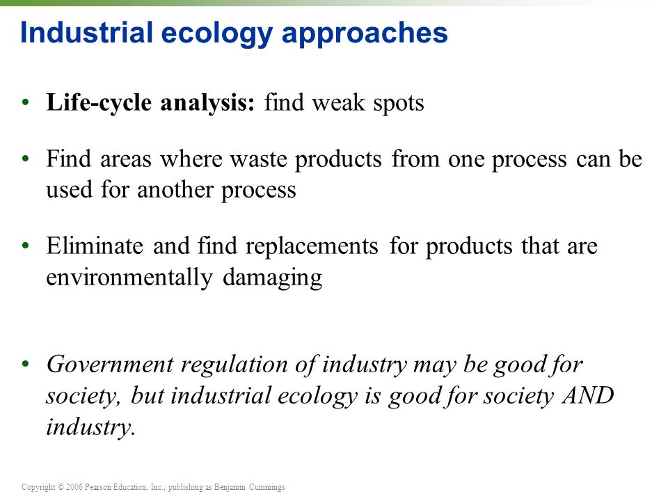 Industrial ecology approaches