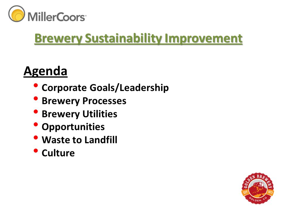Brewery Sustainability Improvement