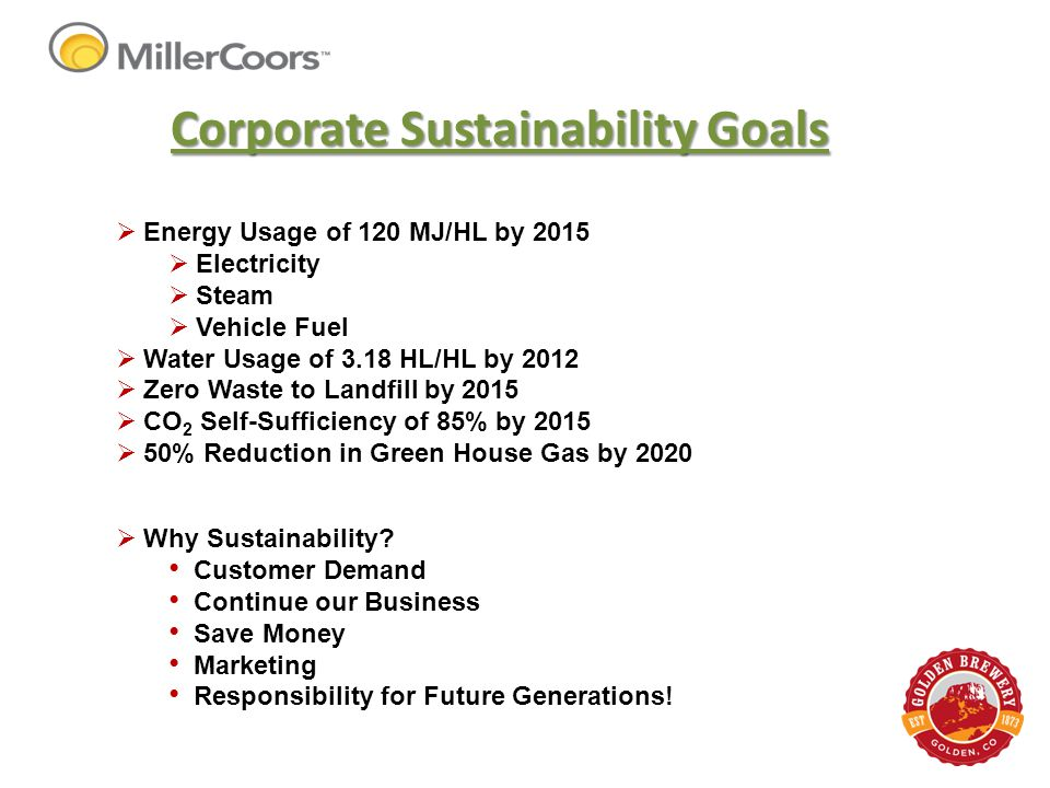 Corporate Sustainability Goals