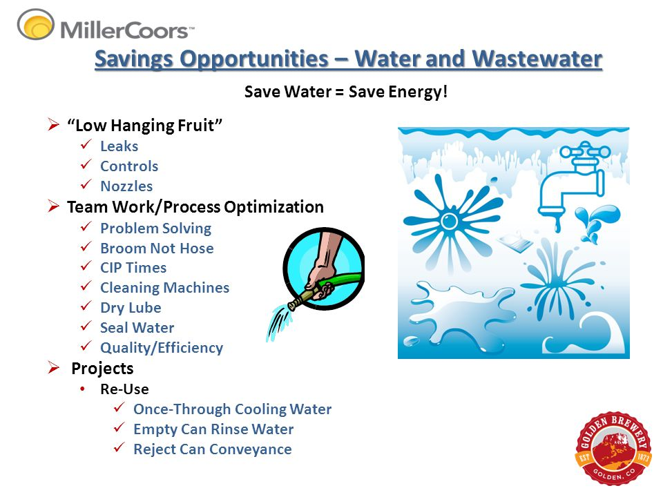 Savings Opportunities – Water and Wastewater