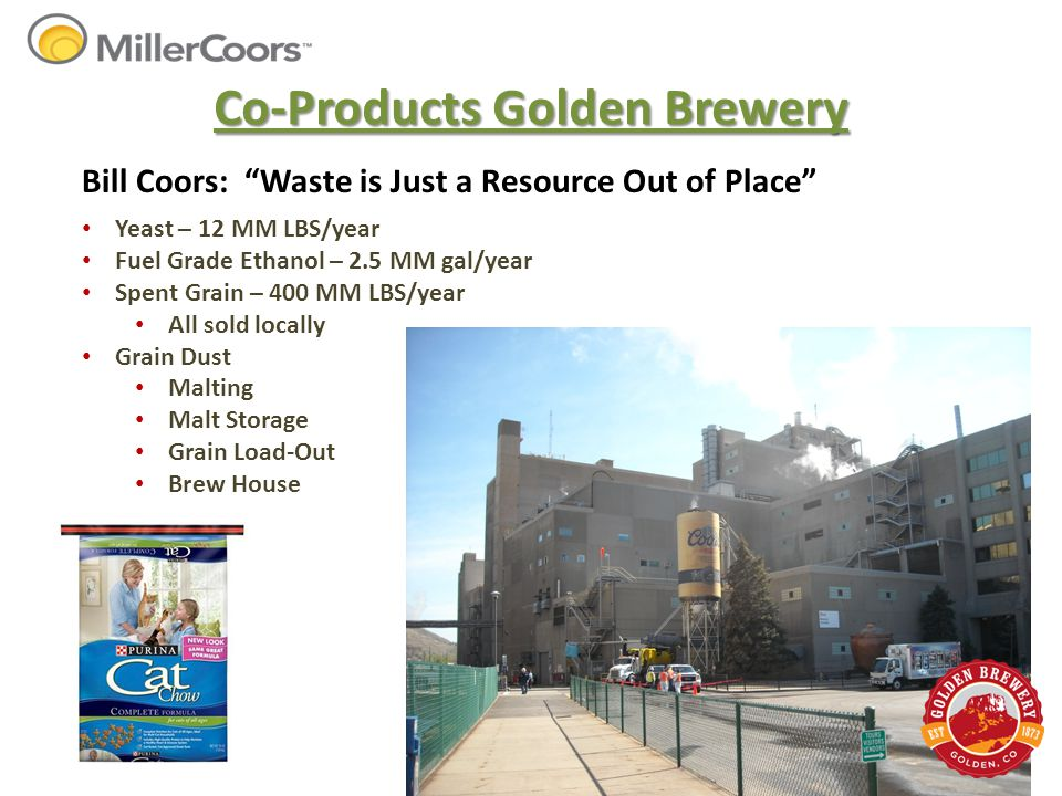 Co-Products Golden Brewery