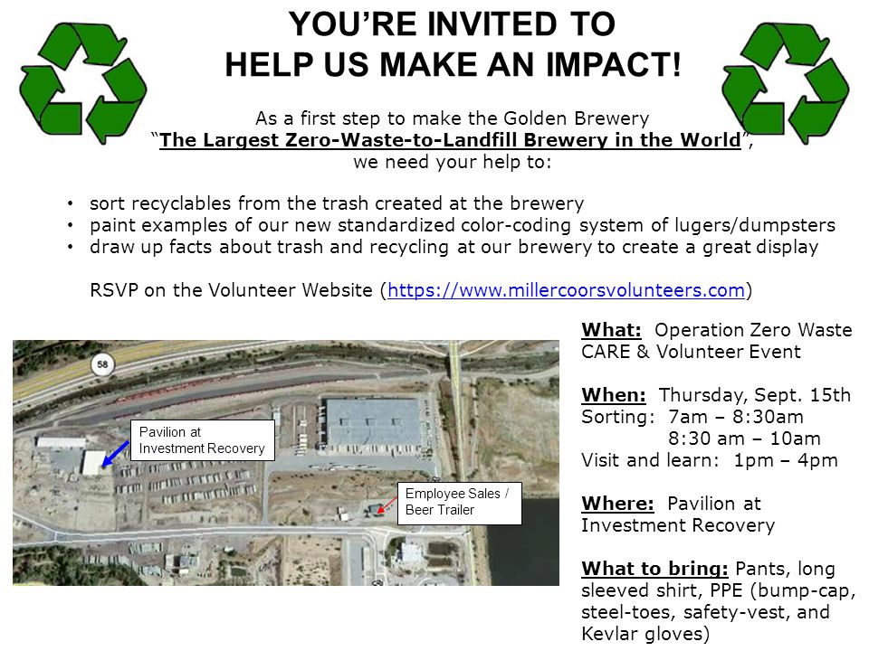 YOU'RE INVITED TO HELP US MAKE AN IMPACT!