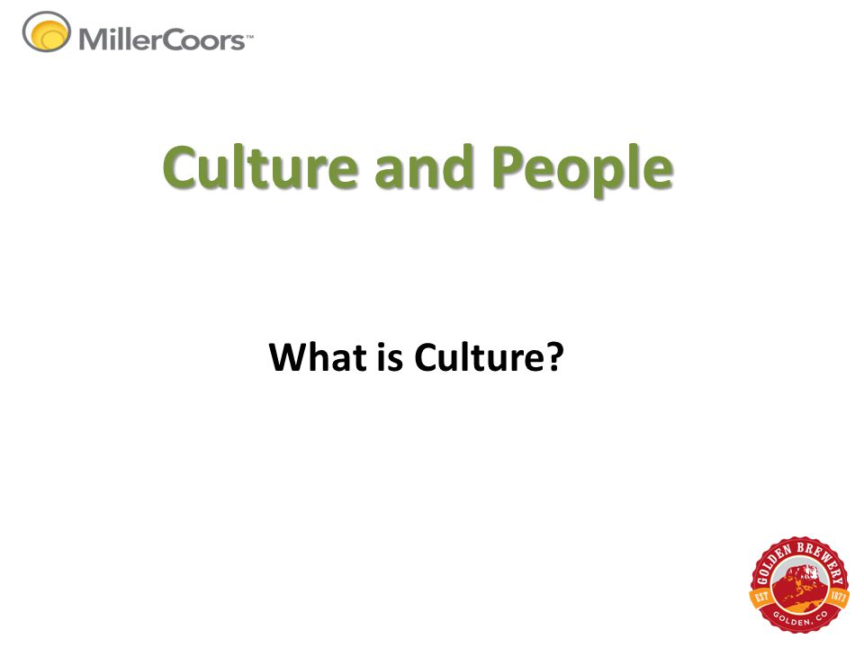 Culture and People What is Culture