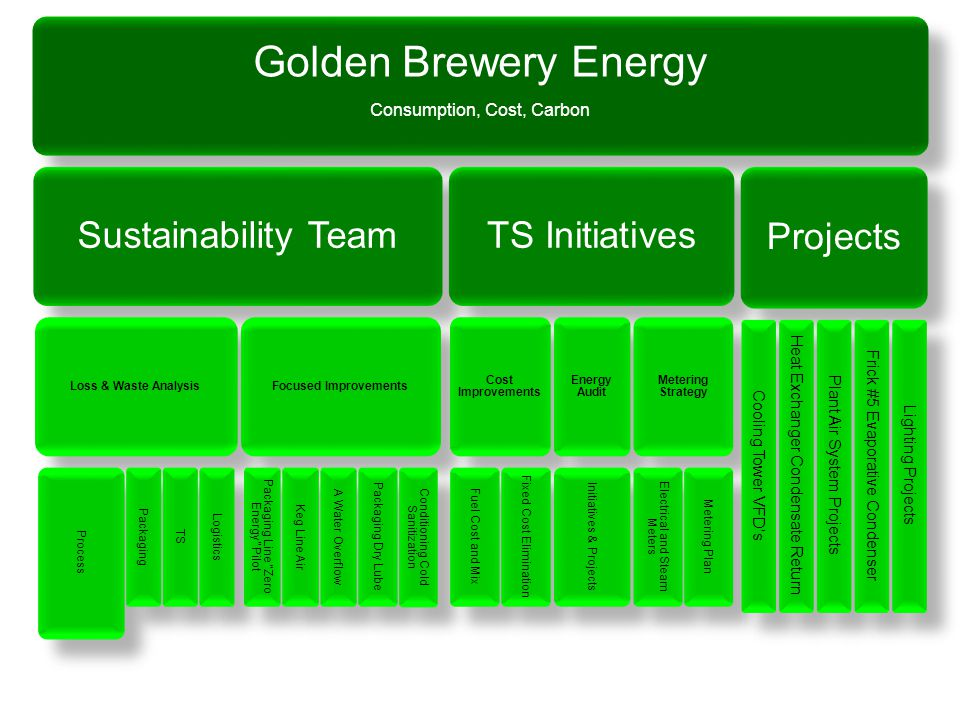 Golden Brewery Energy Sustainability Team TS Initiatives Projects