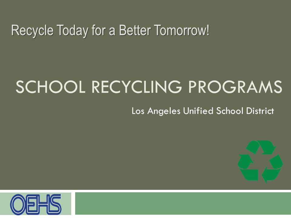 School Recycling Programs