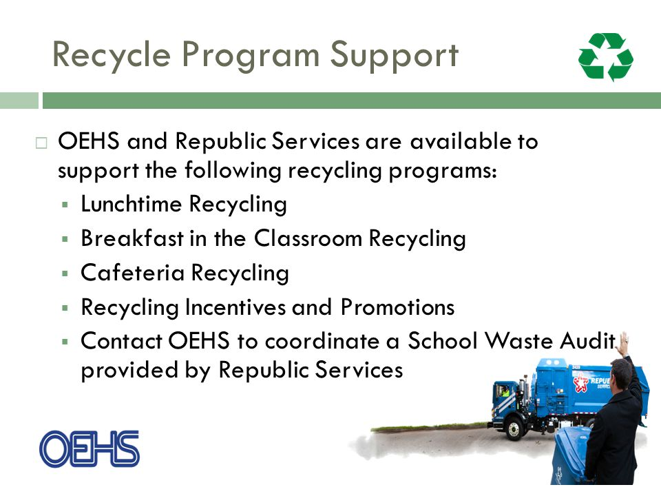 Recycle Program Support