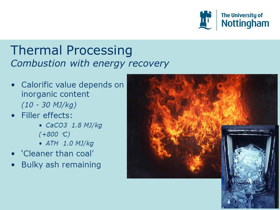 Thermal Processing Combustion with energy recovery
