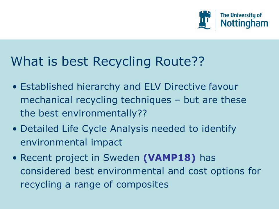 What is best Recycling Route