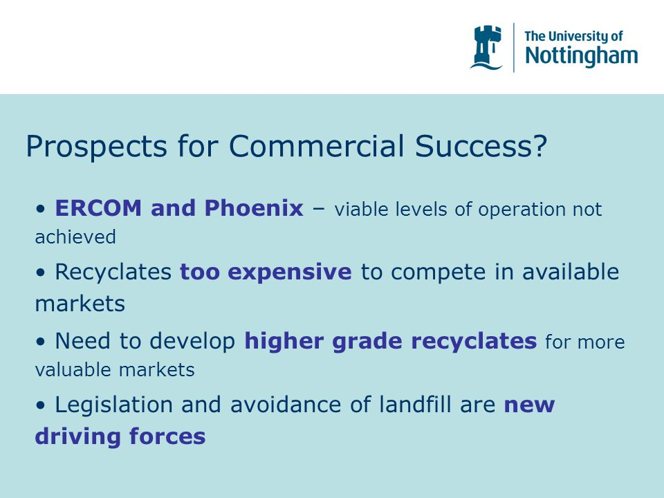 Prospects for Commercial Success