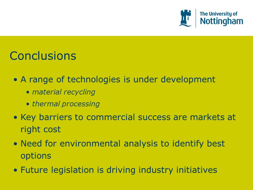 Conclusions A range of technologies is under development