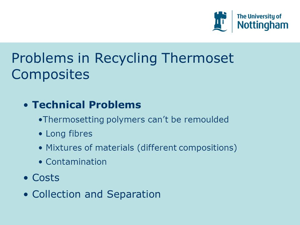 Problems in Recycling Thermoset Composites
