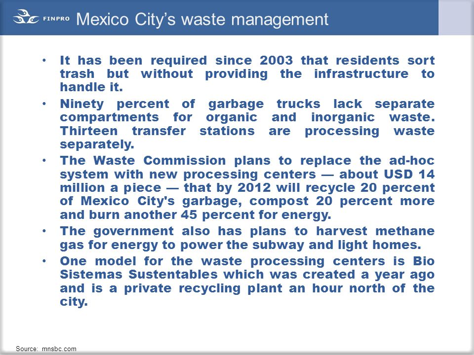 Mexico City's waste management