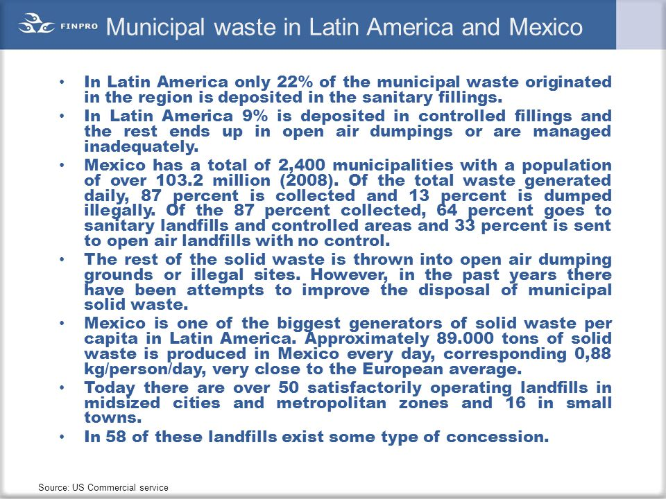 Municipal waste in Latin America and Mexico