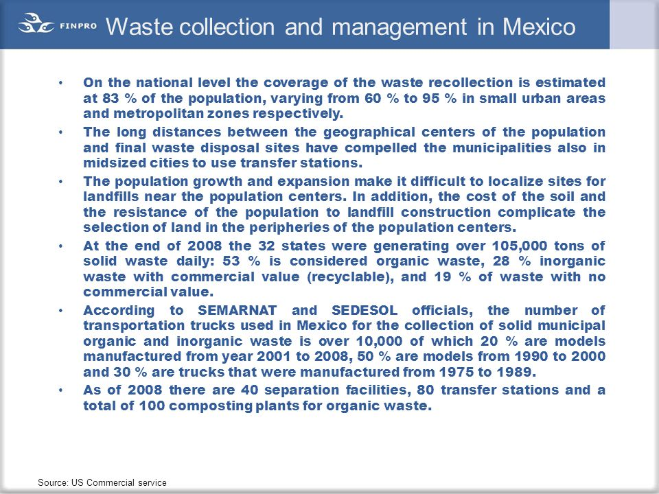 Waste collection and management in Mexico