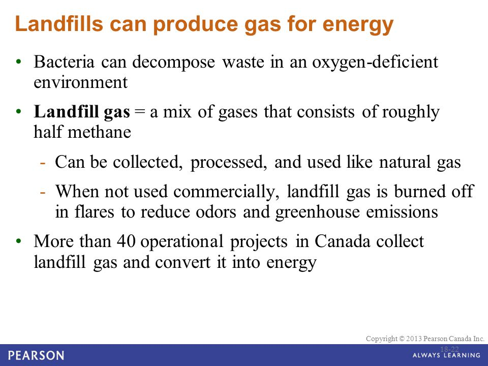 Landfills can produce gas for energy