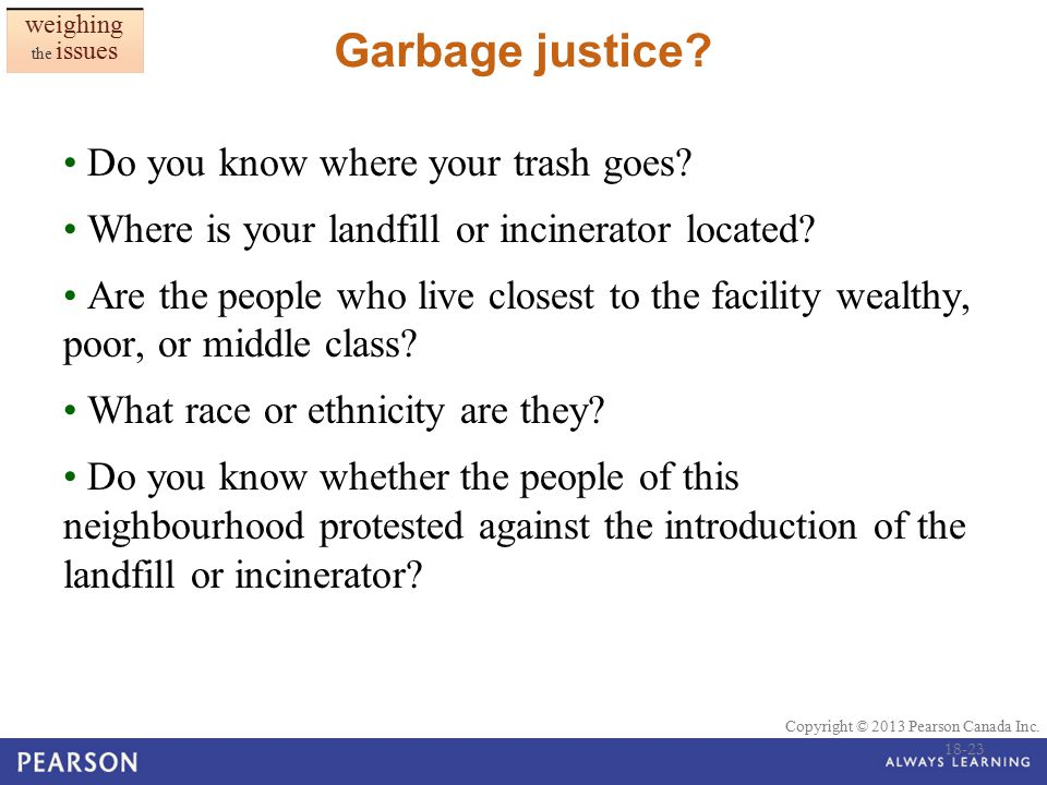 Garbage justice Do you know where your trash goes