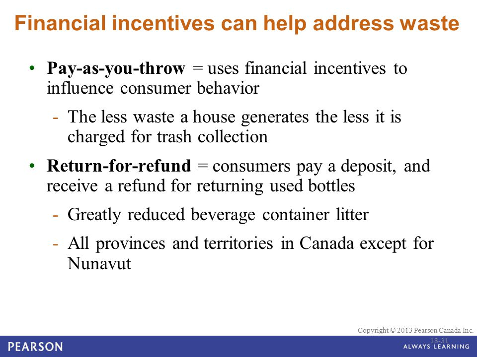 Financial incentives can help address waste