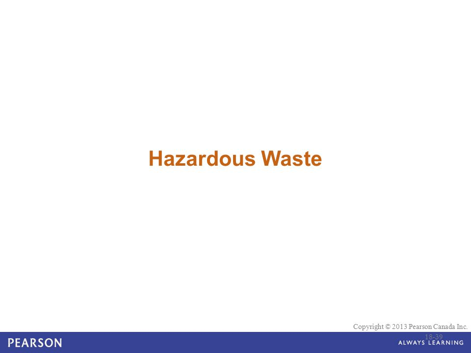 Hazardous Waste 18-39