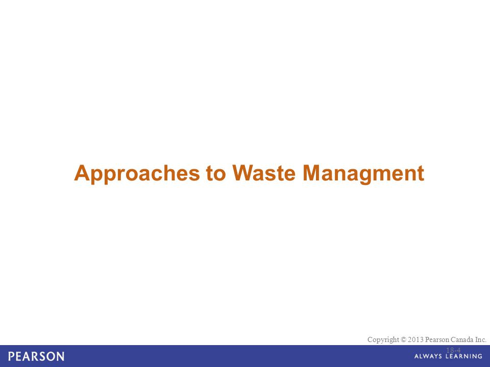 Approaches to Waste Managment
