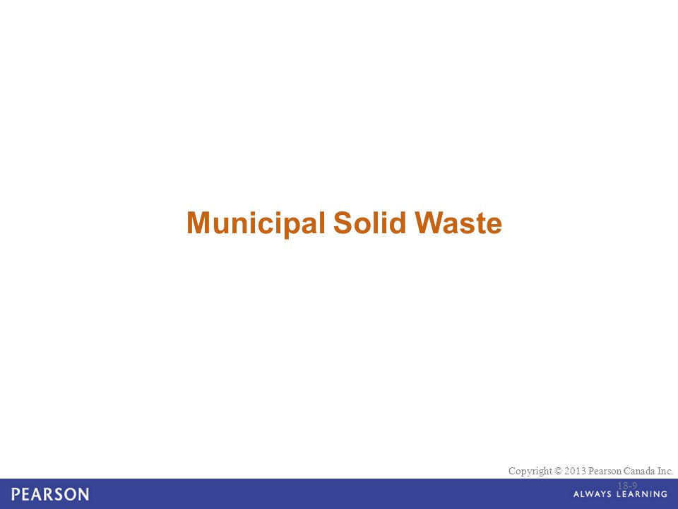 Municipal Solid Waste 18-9