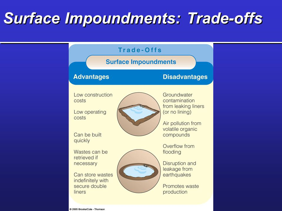 Surface Impoundments: Trade-offs