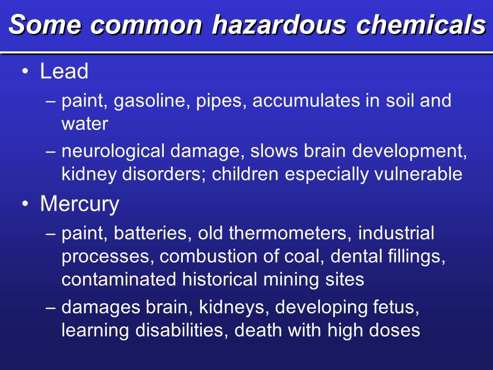 Some common hazardous chemicals